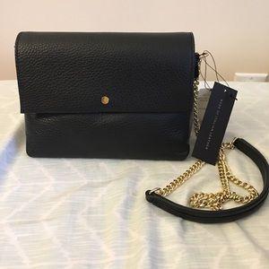 BR leather crossbody bag